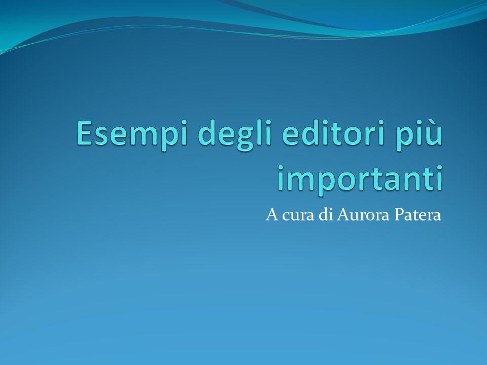A cura di Aurora Patera