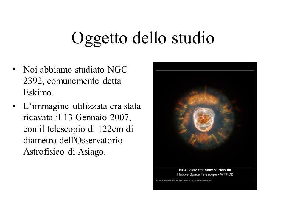 Oggetto dello studio Noi abbiamo studiato NGC 2392, comunemente detta Eskimo.