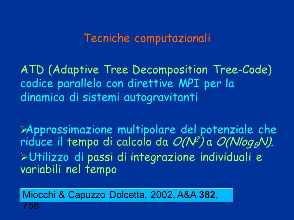Tecniche computazionali ATD (Adaptive Tree Decomposition Tree-Code) codice parallelo con direttive MPI per la dinamica di sistemi autogravitanti Appro