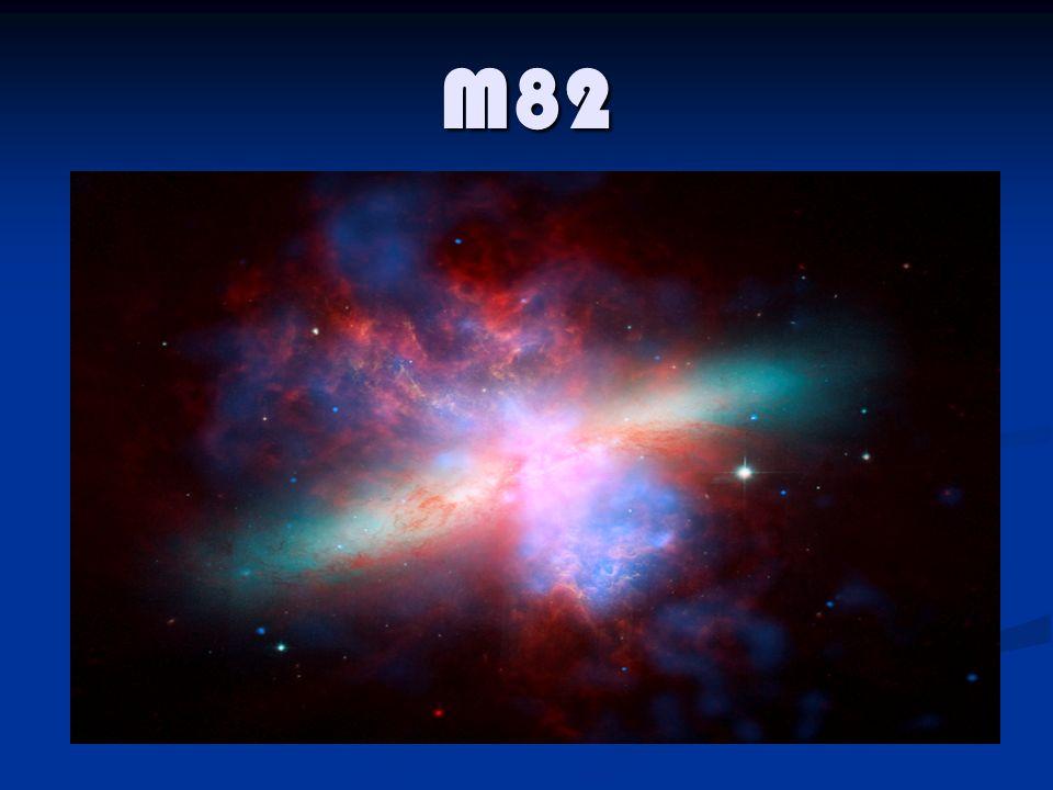 M82 è una galassia dalla forma simile a quella di un sigaro, classificata come Irr-II (che sta per galassia irregolare di tipo II - non presenta alcuna struttura) detta starburst per lalto tasso di formazione stellare, si trova nella costellazione dellOrsa Maggiore.