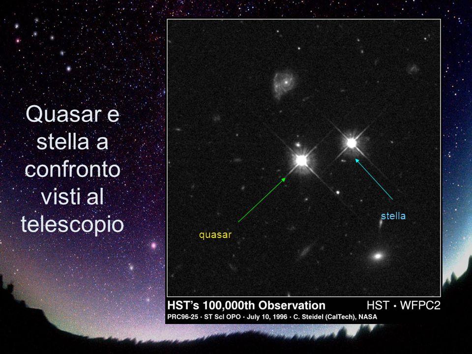 Quasar e stella a confronto visti al telescopio quasar stella