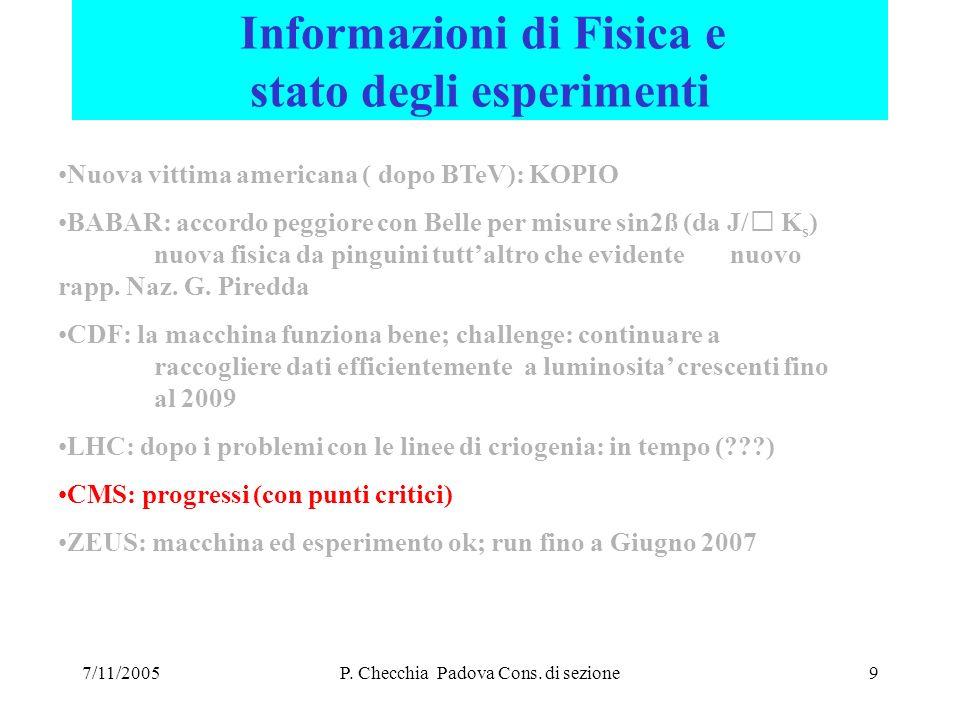 7/11/200510 CMS Italia Il gruppo continua a crescere.