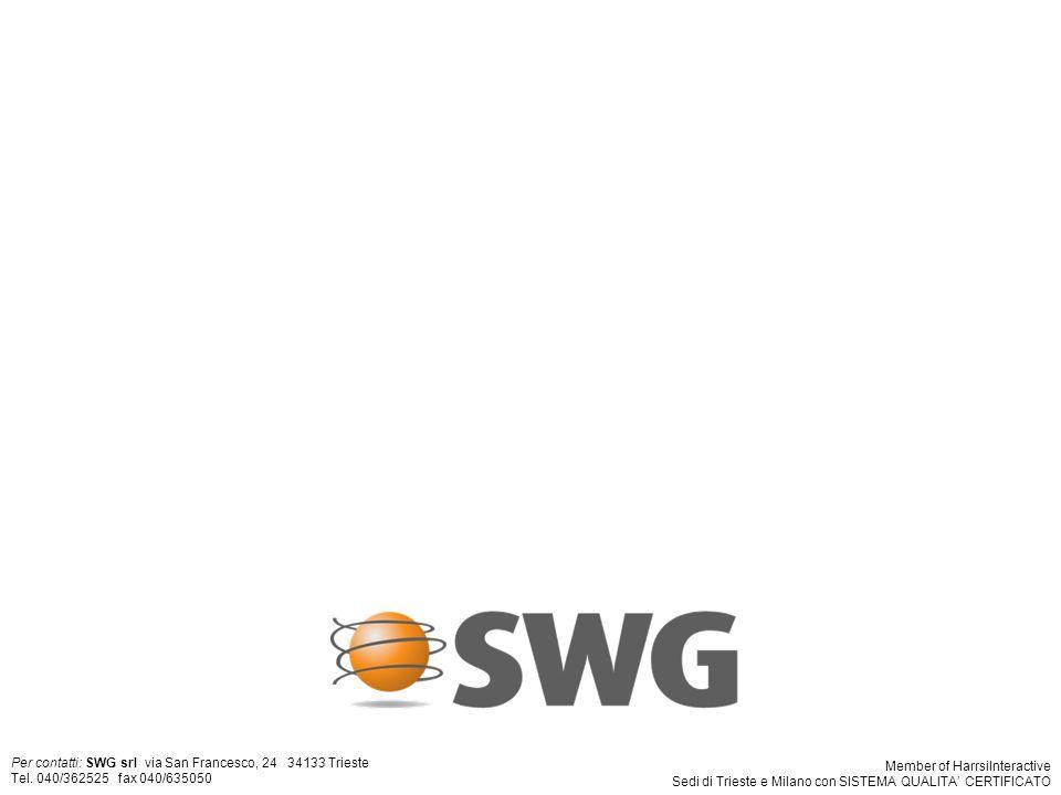 4 Per contatti: SWG srl via San Francesco, 24 34133 Trieste Tel.