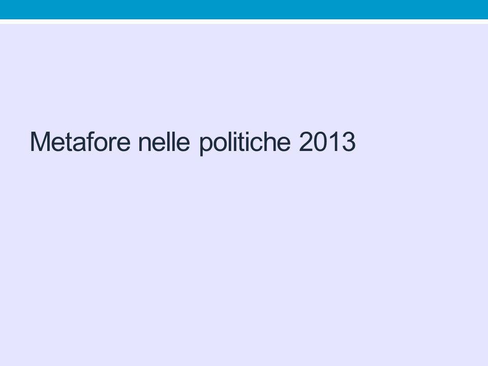 Metafore nelle politiche 2013
