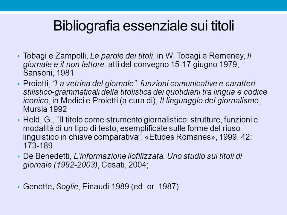 Esempi di titoli enunciativi La terra trema anche in Piemonte Fini:E giusto accertare le colpe Sisma di 3,9 gradi nel Cuneese: panico ma niente danni.