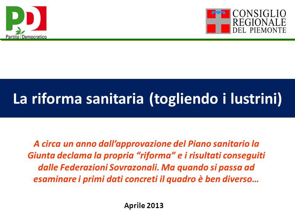 2 FS: la riforma della sanità piemontese.