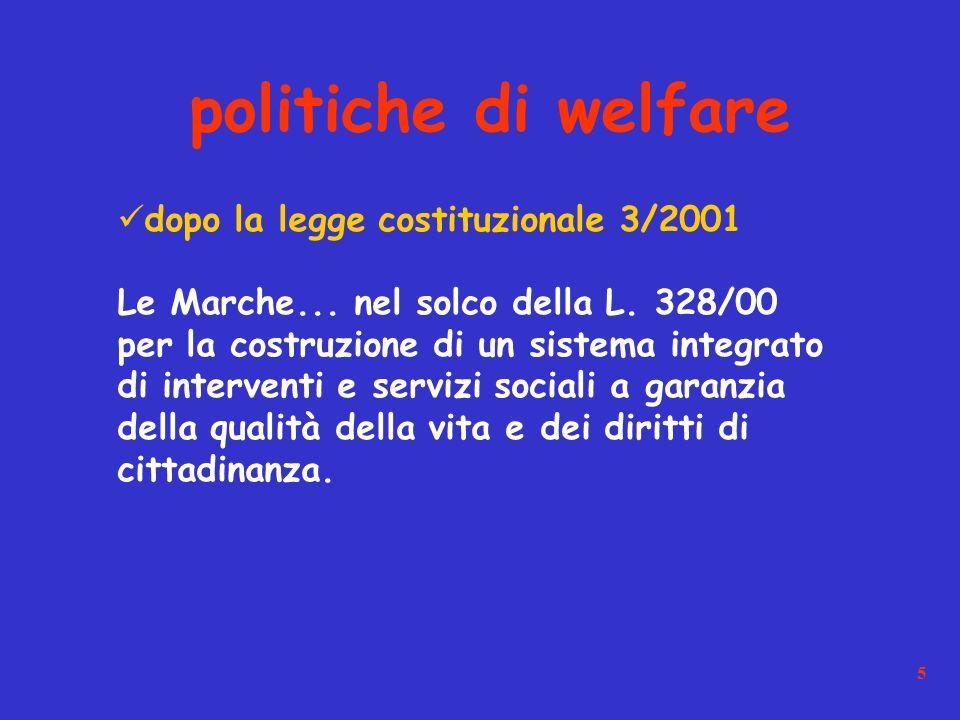 5 dopo la legge costituzionale 3/2001 Le Marche...