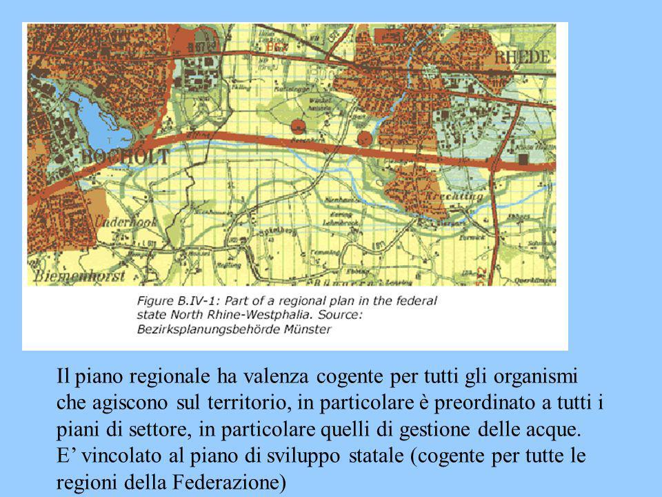 Il piano regionale ha valenza cogente per tutti gli organismi che agiscono sul territorio, in particolare è preordinato a tutti i piani di settore, in