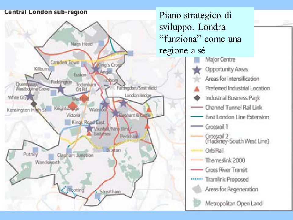 Piano strategico di sviluppo. Londra funziona come una regione a sé