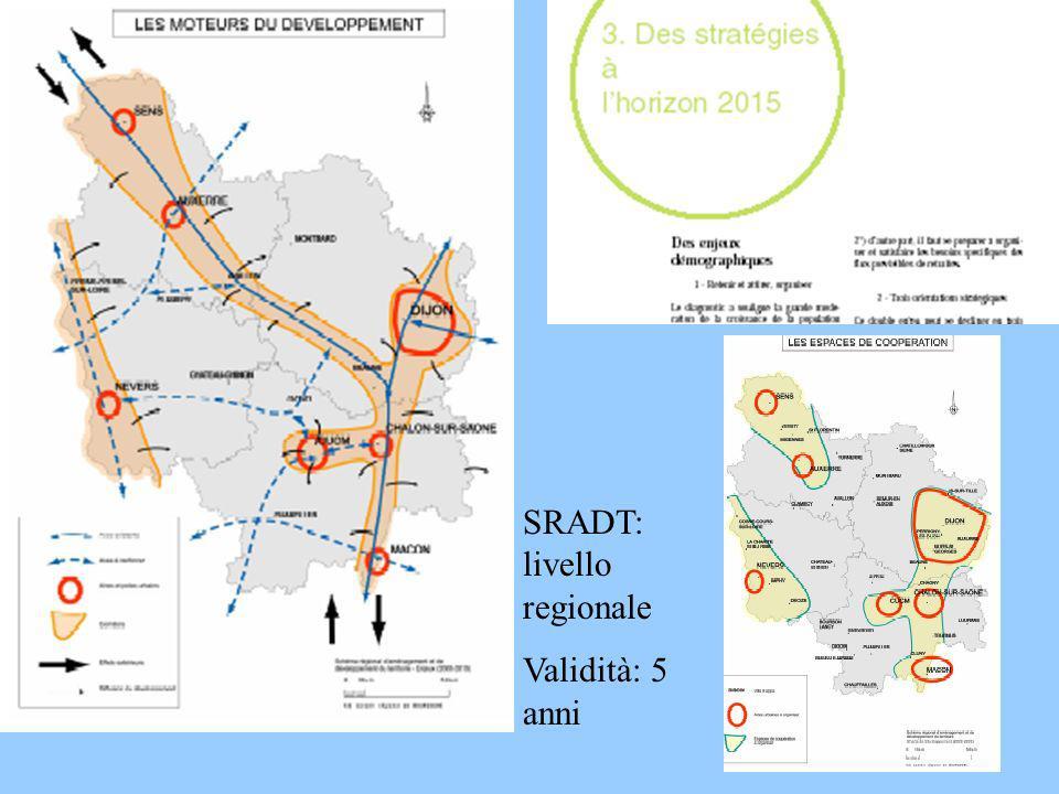 SRADT: livello regionale Validità: 5 anni