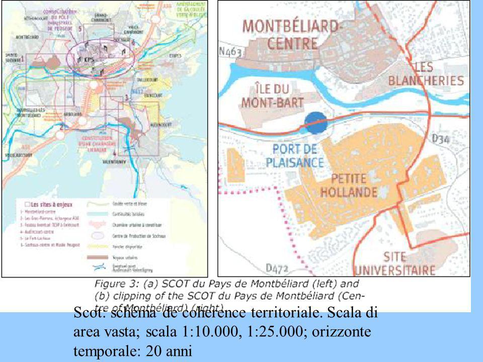 Scot: schéma de coherence territoriale. Scala di area vasta; scala 1:10.000, 1:25.000; orizzonte temporale: 20 anni