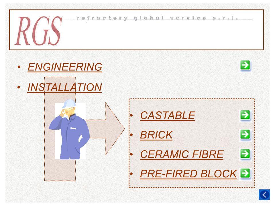 ENGINEERING INSTALLATION CASTABLE BRICK CERAMIC FIBRE PRE-FIRED BLOCK