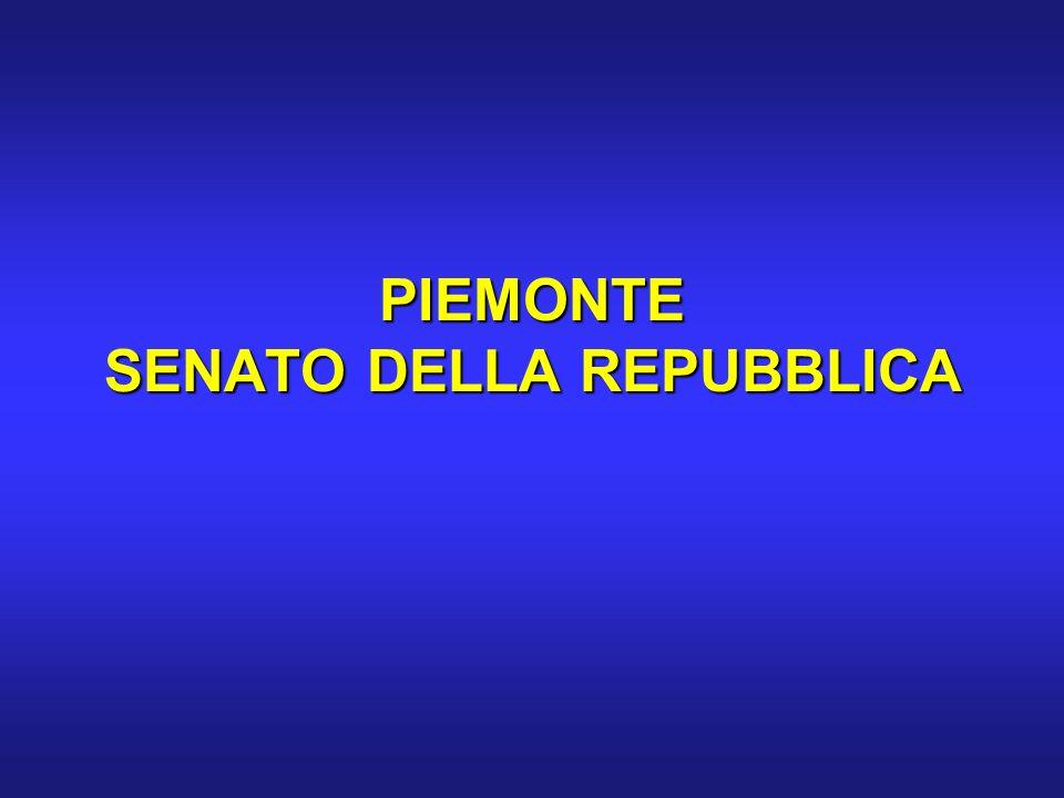 PIEMONTE SENATO DELLA REPUBBLICA
