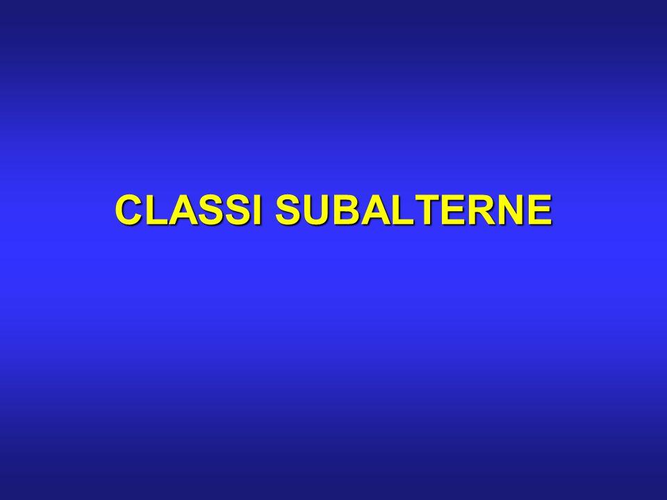 CLASSI SUBALTERNE