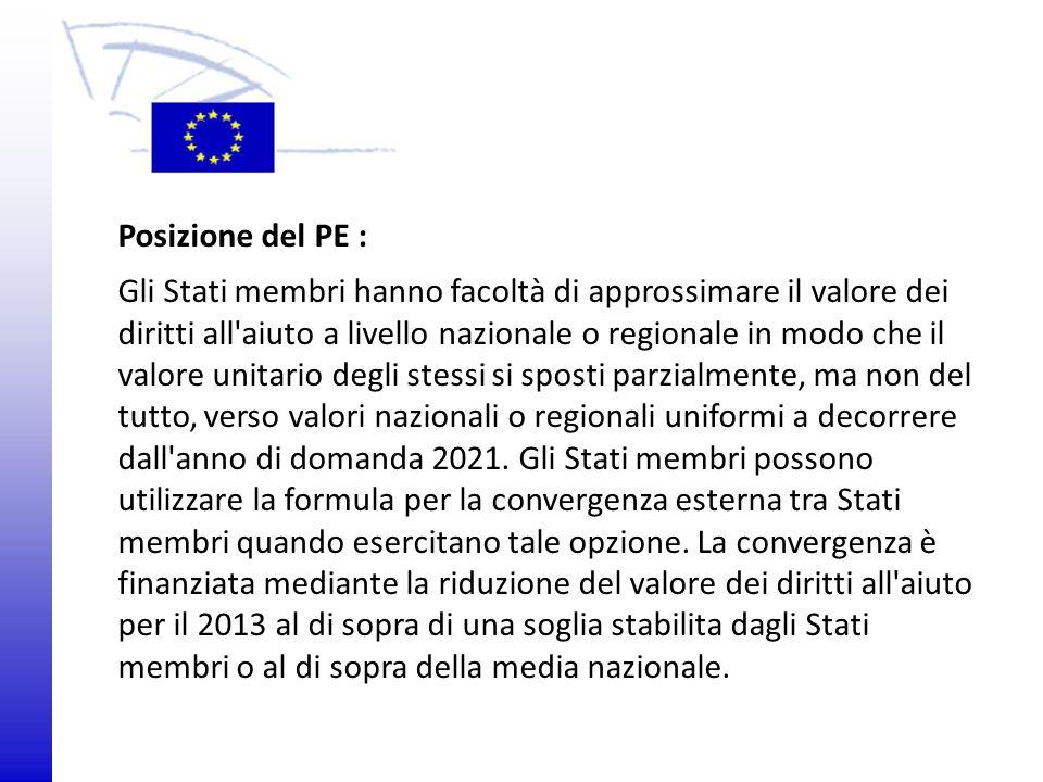 © 2009 Europäisches Parlament, Besucherdienst Posizione del PE : Gli Stati membri hanno facoltà di approssimare il valore dei diritti all'aiuto a live