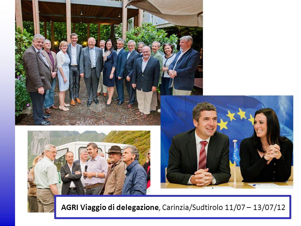 © 2009 Europäisches Parlament, Besucherdienst AGRI Viaggio di delegazione, Carinzia/Sudtirolo 11/07 – 13/07/12