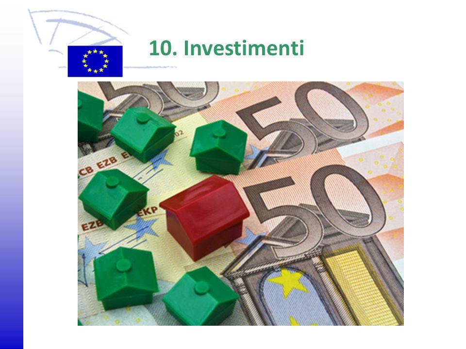 © 2009 Europäisches Parlament, Besucherdienst 10. Investimenti