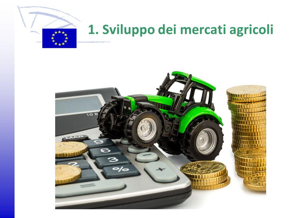 © 2009 Europäisches Parlament, Besucherdienst 1. Sviluppo dei mercati agricoli