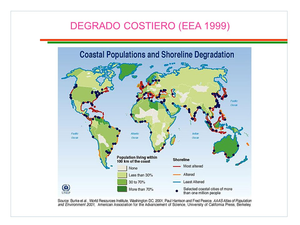 DEGRADO COSTIERO (EEA 1999)