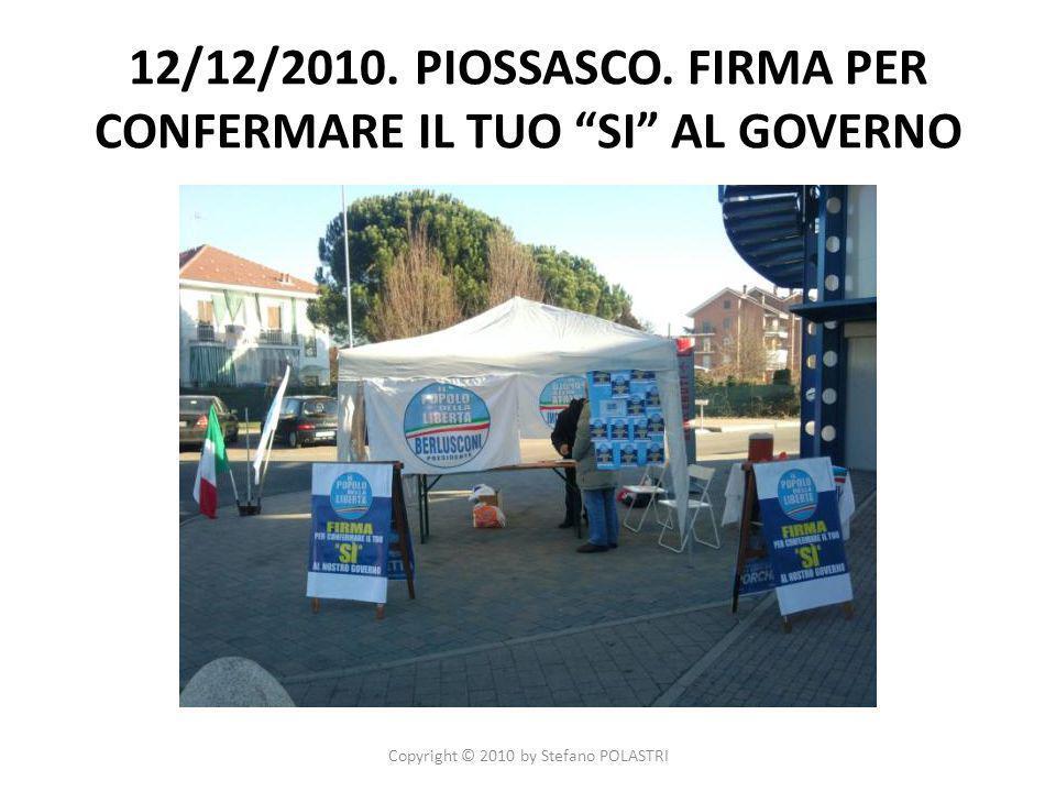 12/12/2010. PIOSSASCO.