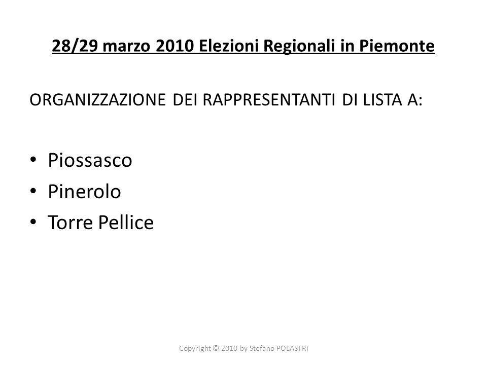 LOperazione Memoria a Piscina (TO) Copyright © 2010 by Stefano POLASTRI