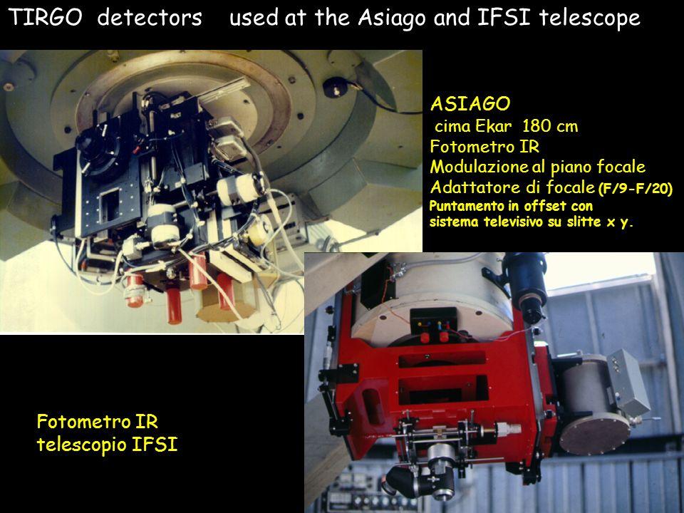 ASIAGO cima Ekar 180 cm Fotometro IR Modulazione al piano focale Adattatore di focale (F/9-F/20) Puntamento in offset con sistema televisivo su slitte