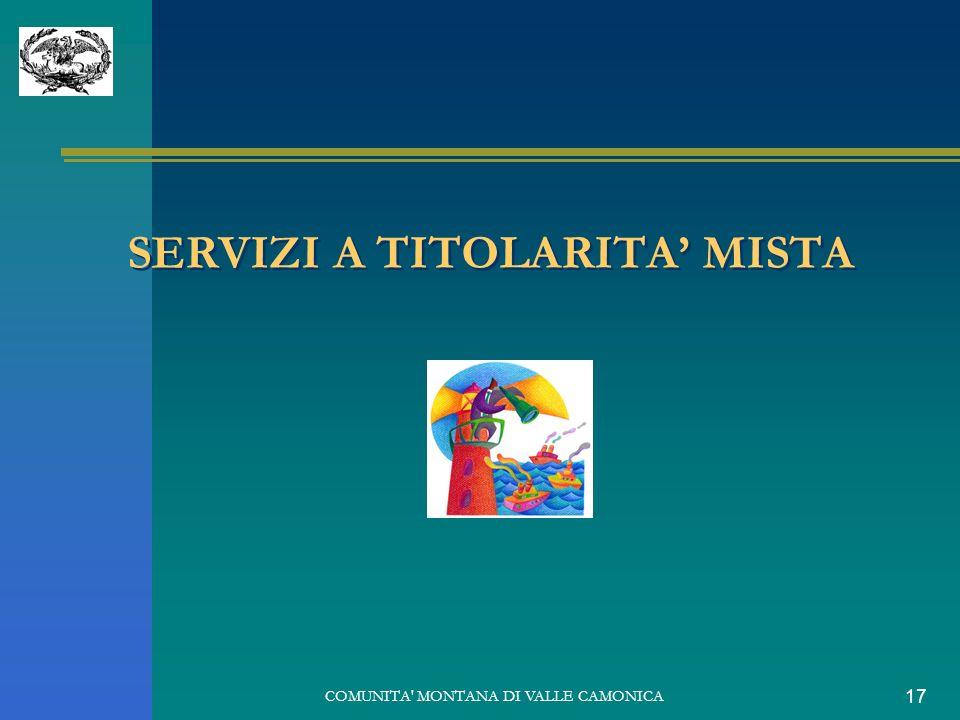COMUNITA MONTANA DI VALLE CAMONICA 17 SERVIZI A TITOLARITA MISTA