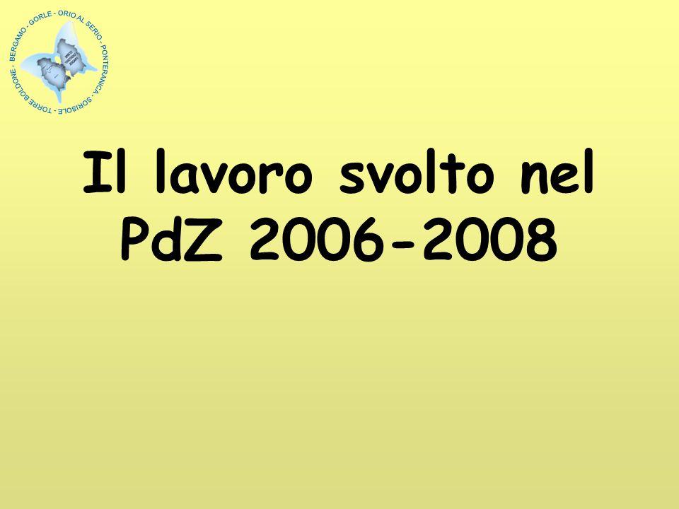Il lavoro svolto nel PdZ 2006-2008