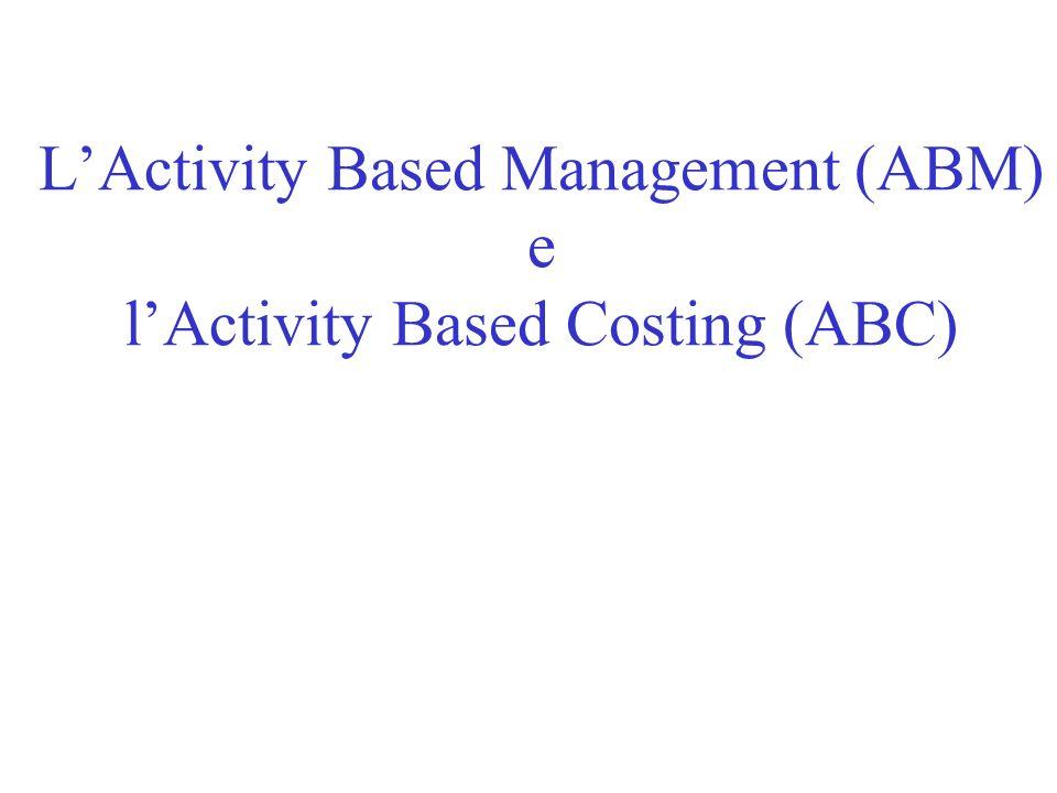 d) gli oggetti di costo rilevanti i tradizionali oggetti di costo (centri di costo) vedono diminuire la loro importanza sul piano del controllo assumono maggiore rilievo attività e processi (lungo la catena del valore) che stanno alla base dei vantaggi competitivi aziendali e che diventano i principali generatori di complessità e di costo