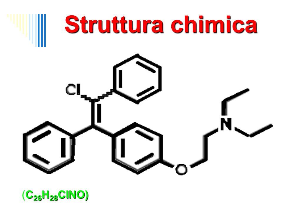 Struttura chimica C 26 H 28 CINO) 2-(4-(2-chloro-1,2-diphenylethenyl) phenoxy)-N,N-diethyl-ethanamine (C 26 H 28 CINO)