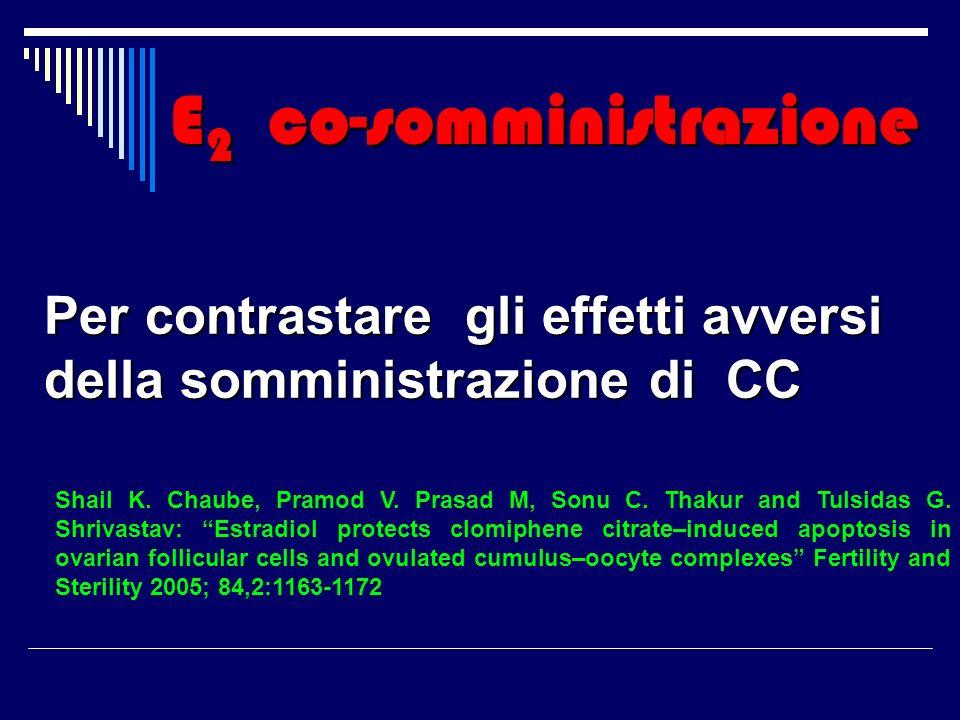 E 2 co-somministrazione Per contrastare gli effetti avversi della somministrazione di CC Shail K. Chaube, Pramod V. Prasad M, Sonu C. Thakur and Tulsi