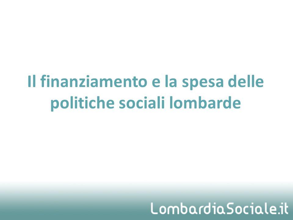 Il finanziamento e la spesa delle politiche sociali lombarde