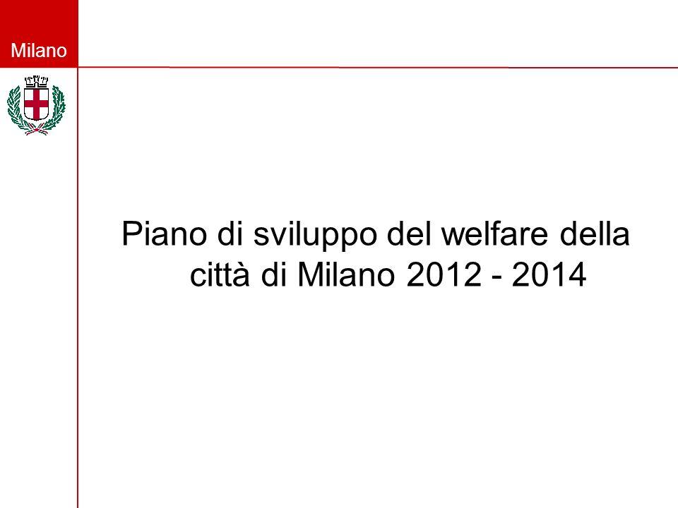 Milano Piano di sviluppo del welfare della città di Milano 2012 - 2014