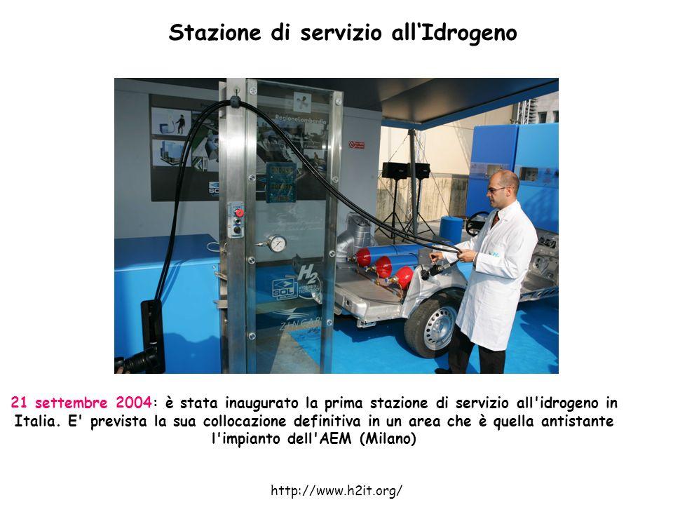 21 settembre 2004: è stata inaugurato la prima stazione di servizio all'idrogeno in Italia. E' prevista la sua collocazione definitiva in un area che