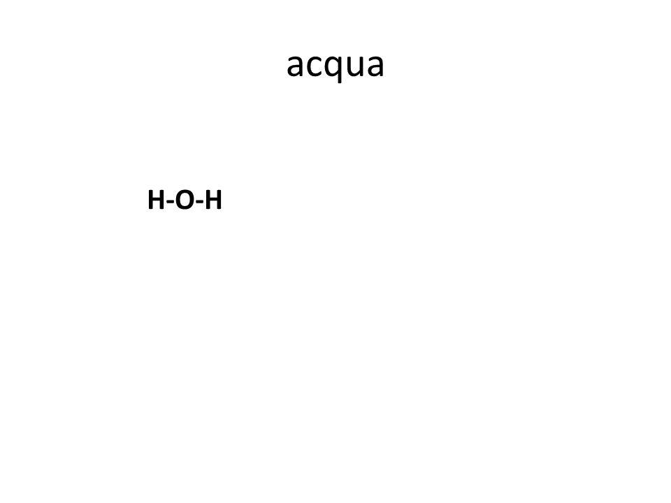 acqua H-O-H