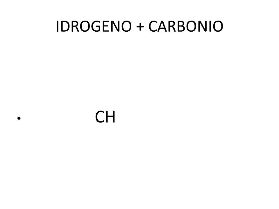 IDROGENO + CARBONIO CH