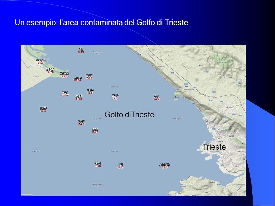 Trieste Golfo diTrieste Un esempio: larea contaminata del Golfo di Trieste