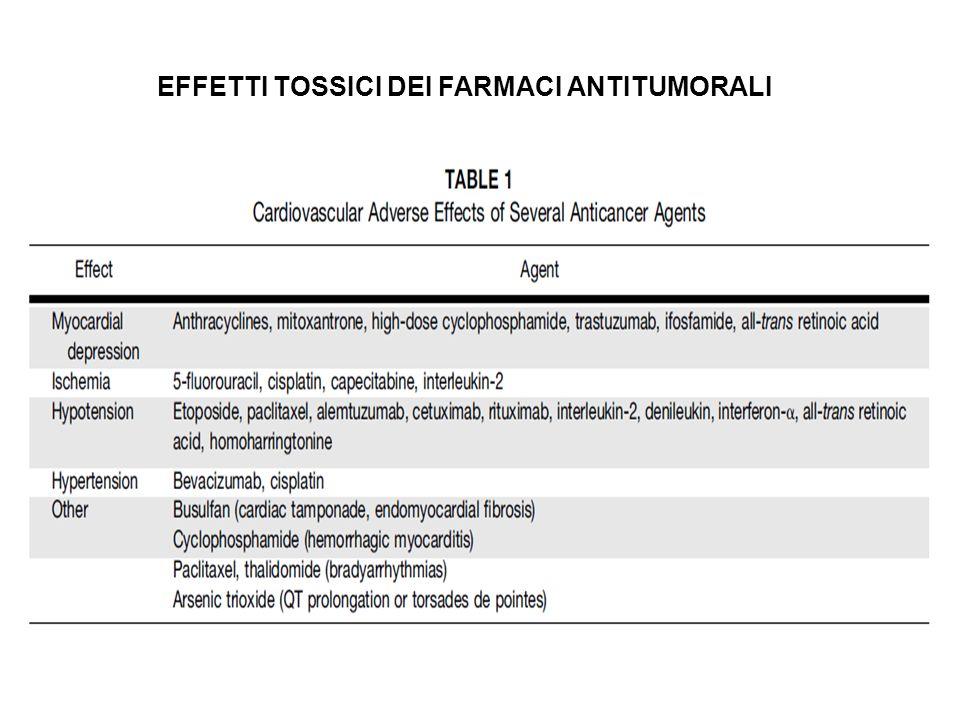EFFETTI TOSSICI DEI FARMACI ANTITUMORALI