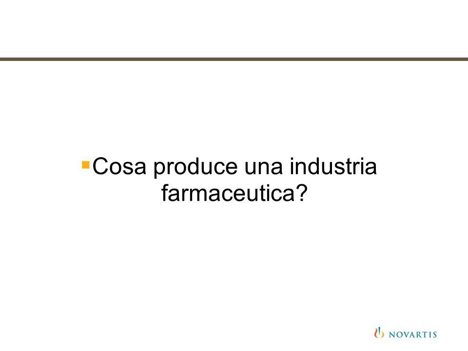 Cosa produce una industria farmaceutica?