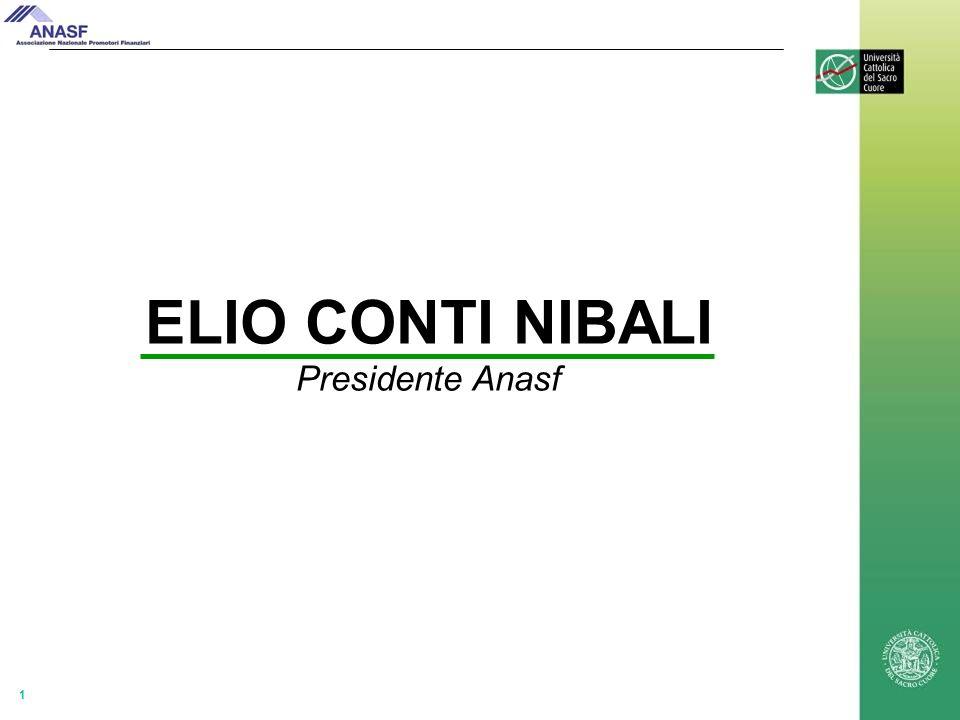 1 ELIO CONTI NIBALI Presidente Anasf
