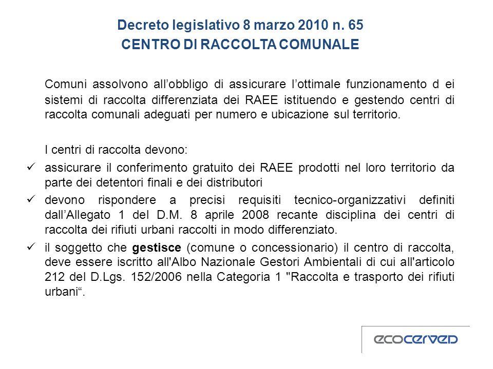 Decreto legislativo 8 marzo 2010 n.