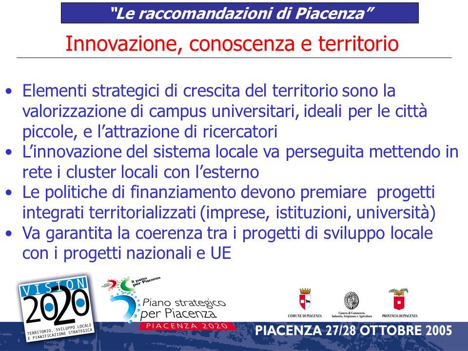 Le raccomandazioni di Piacenza Dinamiche demografiche, immigrazione, politiche sociali