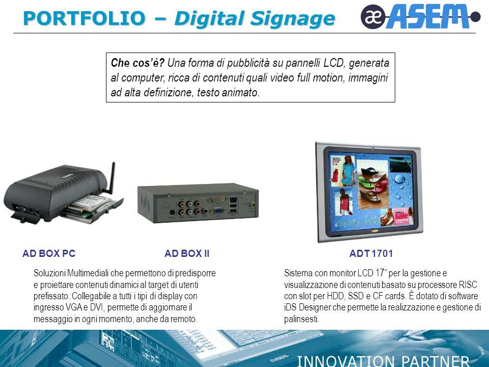 PORTFOLIO – Digital Signage ADT 1701AD BOX PCAD BOX II Che cosè.