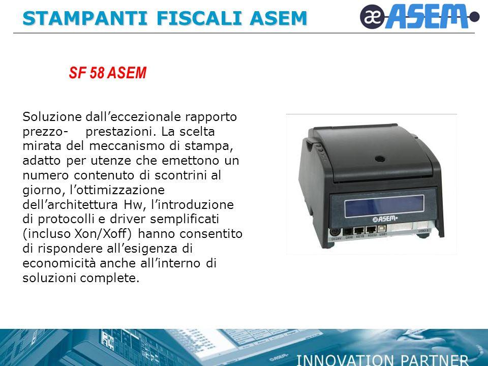 STAMPANTI FISCALI ASEM Soluzione dalleccezionale rapporto prezzo- prestazioni.