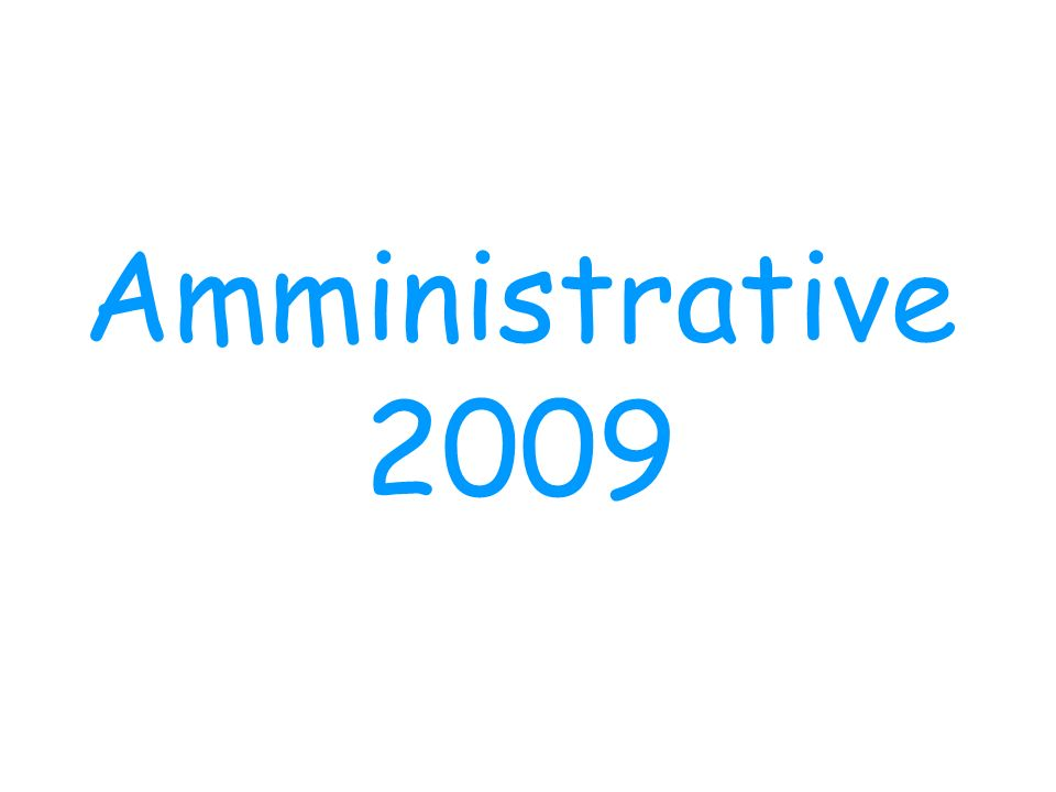 Amministrative 2009