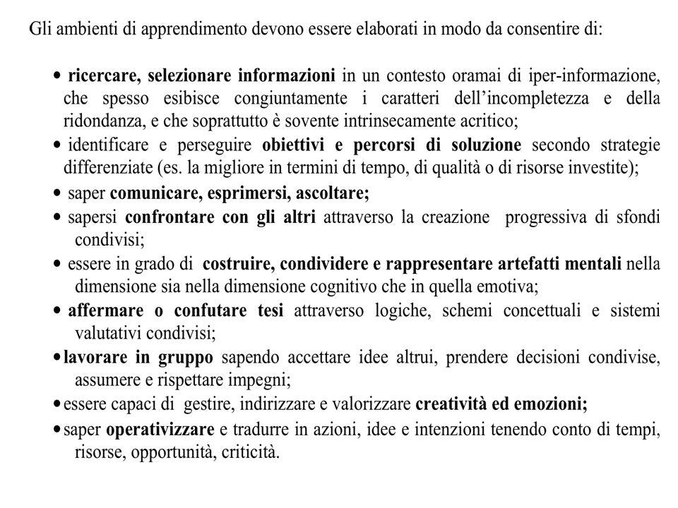 16 Modularità Sistematicità Flessibilità Didattica con gli ambienti di apprendimento Gli ambienti di apprendimento devono assicurare la convergenza e