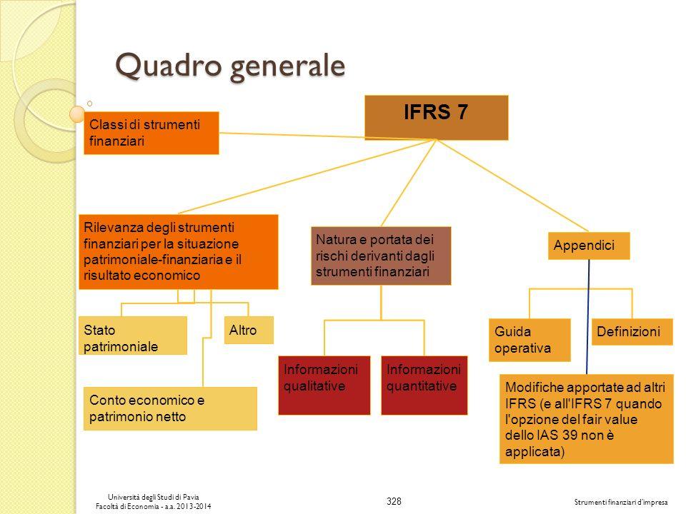 328 Università degli Studi di Pavia Facoltà di Economia - a.a. 2013-2014 Strumenti finanziari dimpresa Quadro generale Rilevanza degli strumenti finan