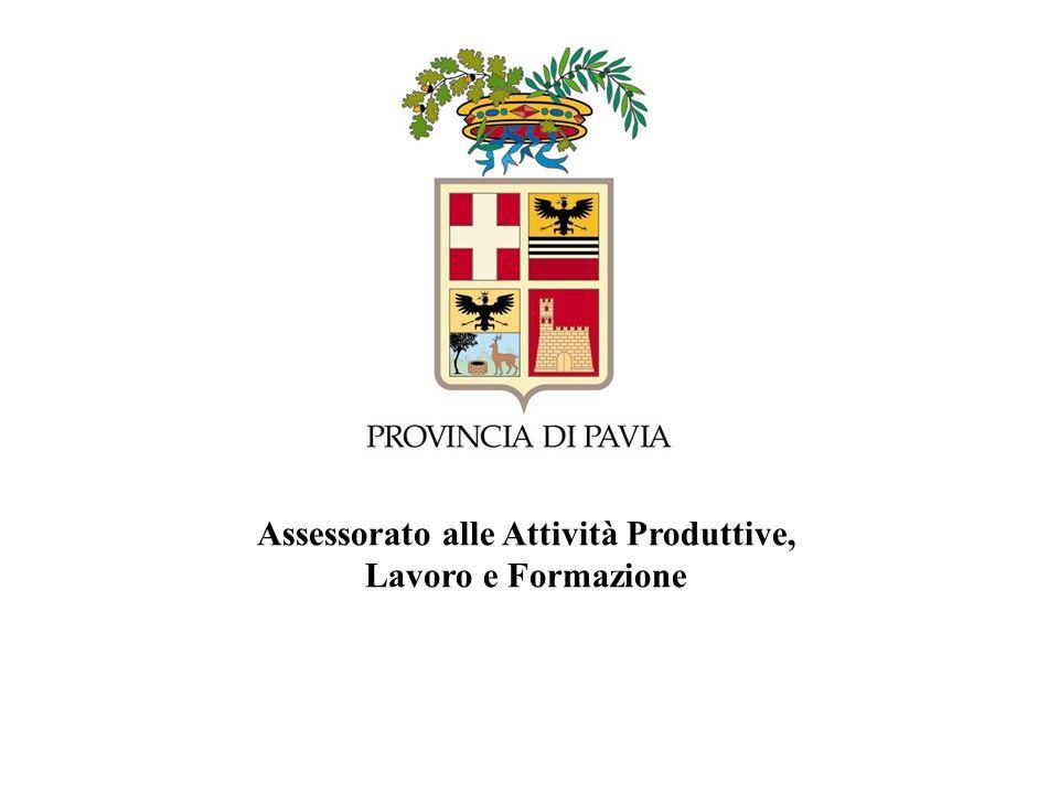 Assessorato Attività Produttive Provincia di Pavia www.formalavoro.pv.it