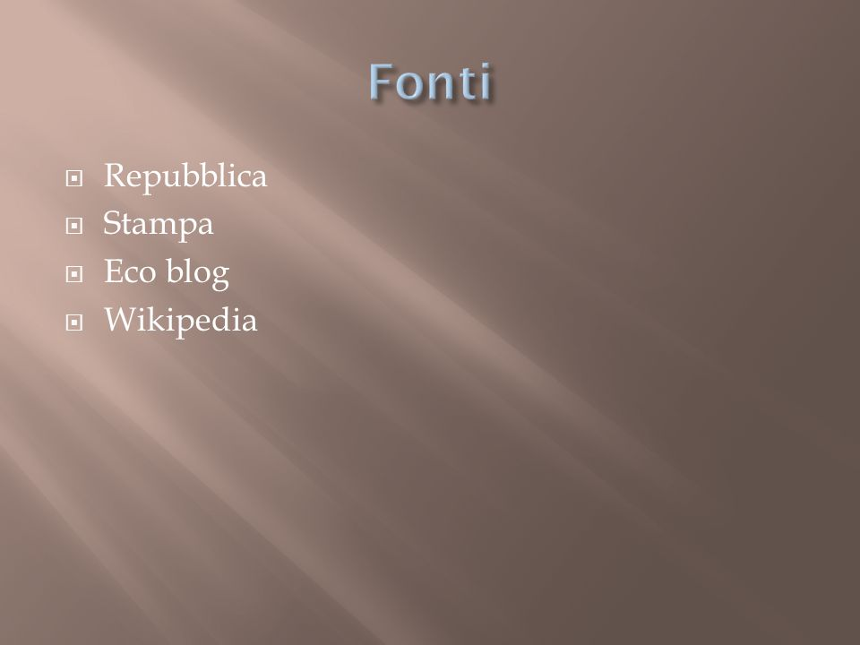 Repubblica Stampa Eco blog Wikipedia