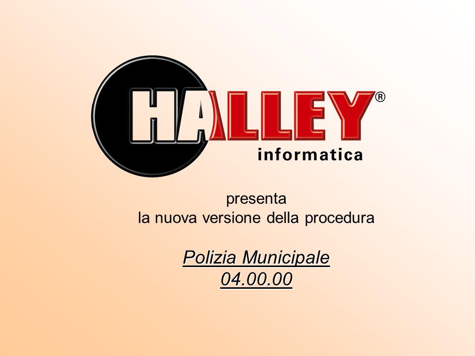 presenta la nuova versione della procedura Polizia Municipale 04.00.00